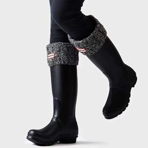 Hunter Cable Cuff Fleece Welly Socks Boot Inserts